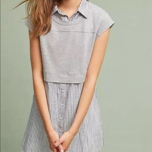 Anthropologie | Postmark layered Button Top